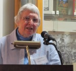 Cathmar Prange speaks at the exhibit