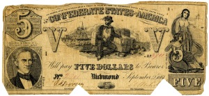 $5 Confederate Currency