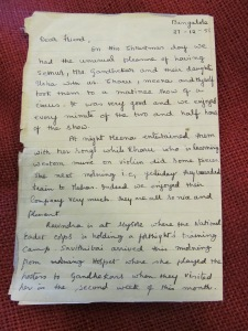 Tagore letter