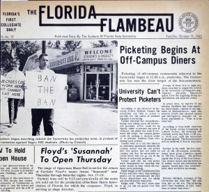 Flambeau front page, Oct. 15, 1963