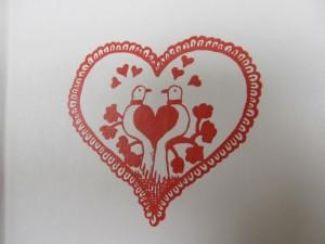Valentine heart with birds