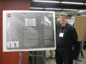 Colin and poster 1