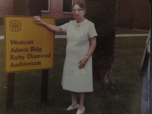 Ms. Diamond was 93 when this picture was taken.  From Ruby Diamond Family Papers, 2007-037, Box 1, Folder 14.