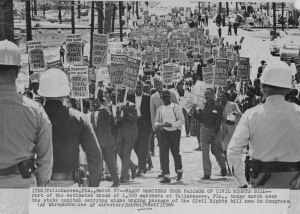 March 27, 1964, an estimated 1,500 march near the Florida State Capitol urging the passage of the Civil Rights Act