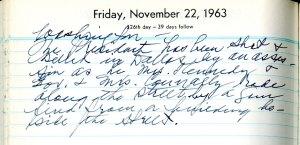 Pepper Diary, 11-22-1963