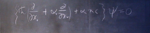 Dirac Equation preserved on a chalkboard