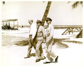 Governor Spessard Holland visiting a base in Florida during the second World War