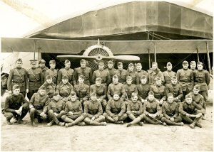 Spessard Holland, far left, with the 24th Aero Squadron in France during World War I