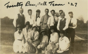 1927 Faculty Baseball Team. See full description here.