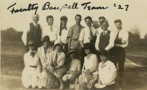 1927 Faculty Baseball Team. See full description here.