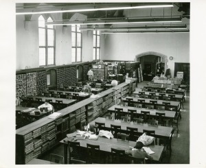 Students Reading in Dodd Hall Library, ca 1950s