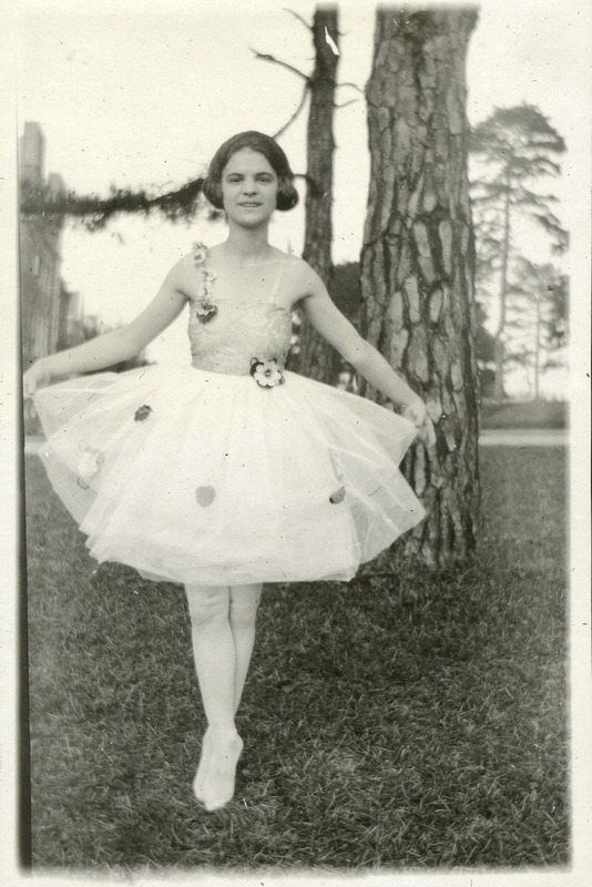 Unidentified Girl in Ballet Costume (Marion Laura Stine Collection, 1917-1921)