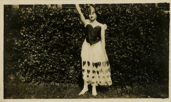 Gladys Martin in Queen of Hearts Costume (Gladys Martin Black Collection, circa 1914-1918)