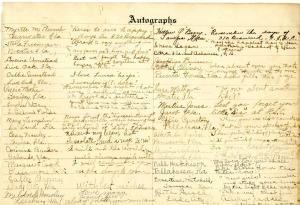 Laura Quayle Benson Scrapbook Autograph Page