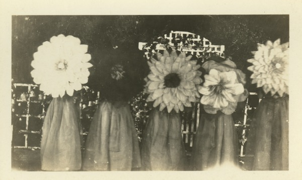 Women in Flower Costumes (Heritage Protocol Photograph Collection, circa 1920s)