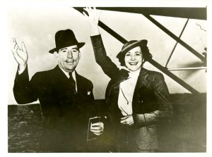 A newly wed Claude and Mildred Pepper depart Miami for their honeymoon to Havana, Cuba on December 31, 1936.