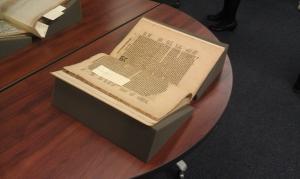 "(Photo credit: Rebecca Bramlett) Theodor de Bry's ""America: Part VII"" (in Latin); published in 1599"
