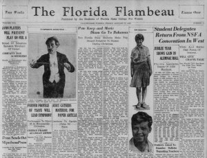Detail from the January 17, 1930 Flambeau.