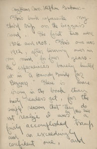 First Page from letter to Mrs. Stephen Graham from Vachel Lindsay.