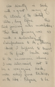 Second Page from letter to Mrs. Stephen Graham from Vachel Lindsay.