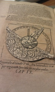 (Photo credit: Rebecca Bramlett) A moving diagram from Peter Apian's Cosmographia, published in 1584