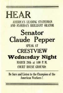 Committee to Defend America event flyer. Claude Pepper Papers, Series 204D.