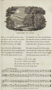 Hymn, Praise to God from The Lyre, 1820s.