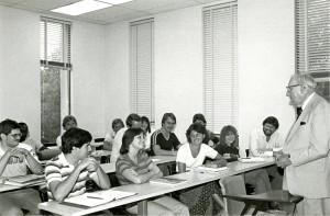 Claude Pepper speaking to a class at FSU (1981)