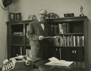 John MacKay Shaw in his study.