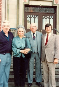 From L to R: Frank and Tina Pepper, Senator Claude Pepper and Burt Altman, former FSU Archivist on opening day.