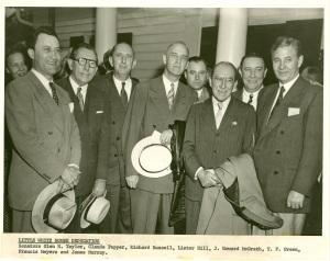 Pepper and fellow Senators at the Little White House dedication, June 25, 1947.
