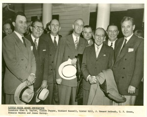 Pepper and fellow Senators at the Little White House dedication, June 25, 1947.
