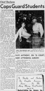 Chief Declares Cops Guard Students, Florida Flambeau, October 16, 1956