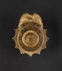 Lee Causseaux's FSU Chief of Police badge