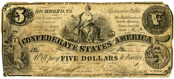 Confederate five-dollar note