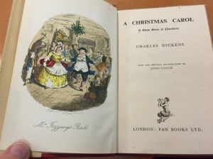 A 1946 edition of Dicken's Christmas Carol from the Christmas Greetings Collection.