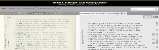 The Burroughs Archive home page.