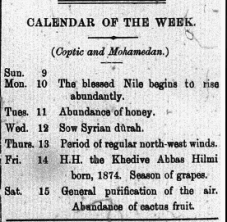 Calendar of the Week July 12 1905