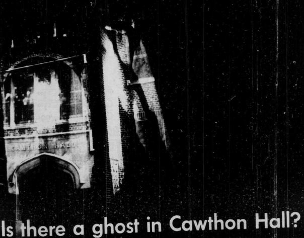 """Is there a ghost in Cawthon Hall?"" by Lucy Weber, Florida Flambeau, 1971"