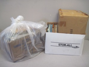 Many archival collections arrive in need of physical processing to ensure preservation.