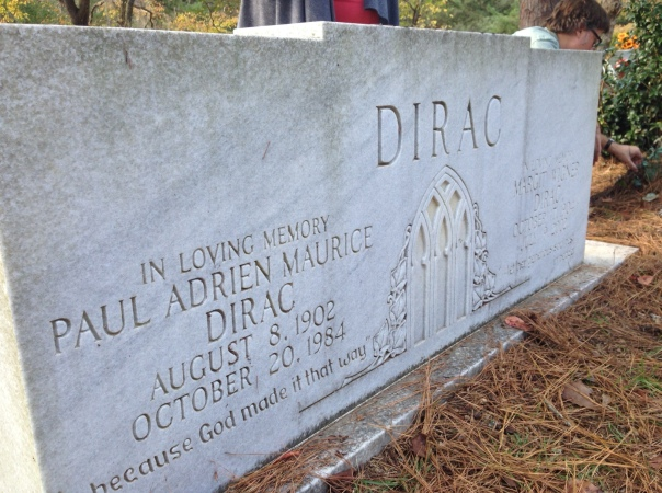 Headstone of Paul and Margit Dirac in Roselawn Cemetery, Tallahassee.