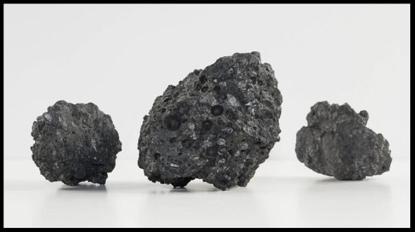 Samples of coal collected near Mt. Erebus, Antarctica. From the Robert E. Hancock Collection.