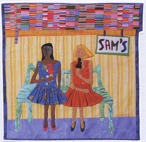 Cathmar's daughter commemorates Sam's in a fabric picture