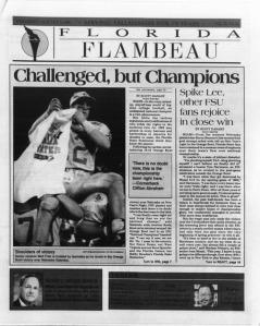 Florida Flambeau, January 5, 1994