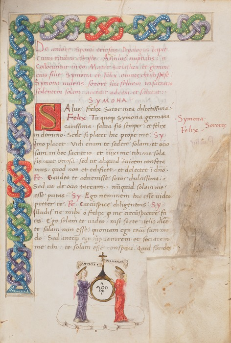 Page from Anulus Nuptialis