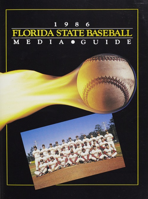 Cover from the 1986 Florida State Baseball Media Guide