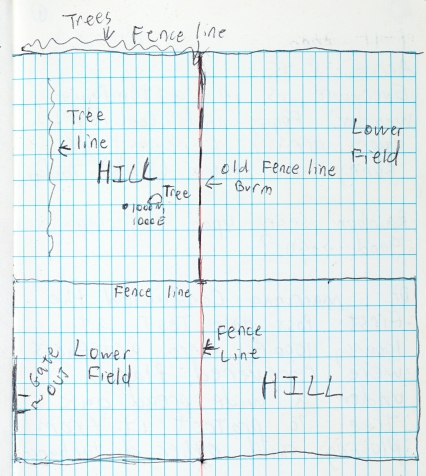 Page of student field notes from the Castro site.