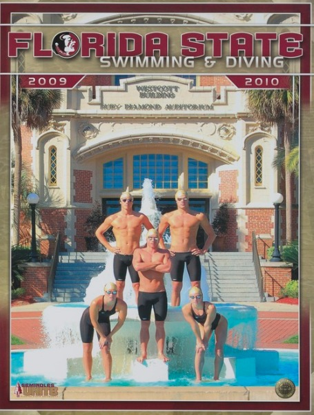 Cover from the media guide for Swimming & Diving, 2009-2010