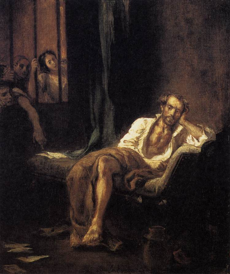 Tasso in the Madhouse by Eugène Delacroix