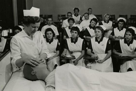 Nursing Instructor Teaching Her Students
